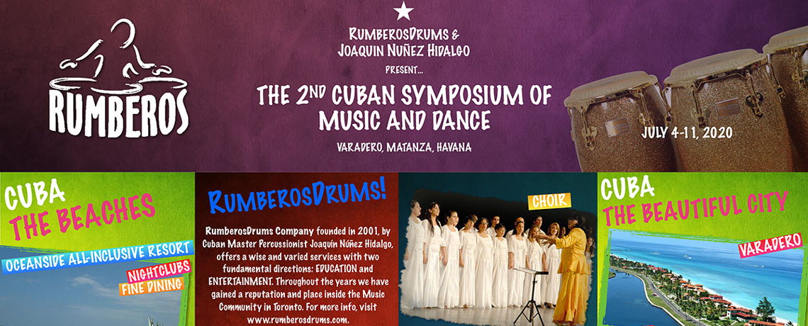 Rumberos Drums Presents the 2nd Cuban Symposium of Music and Dance